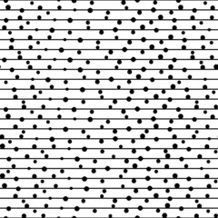 Vector seamless pattern. Repeating  dotted lines.