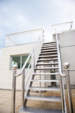 New metal staircase