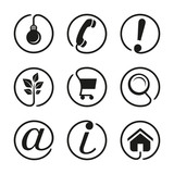 Web icons collection - black-white