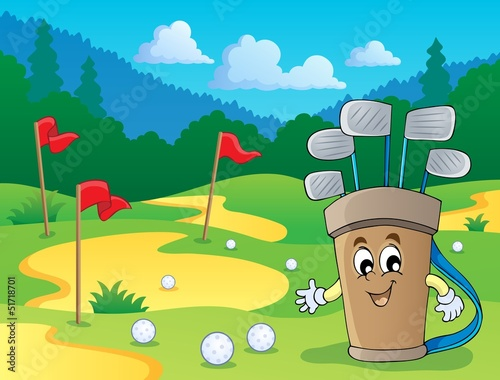 Image with golf theme 2