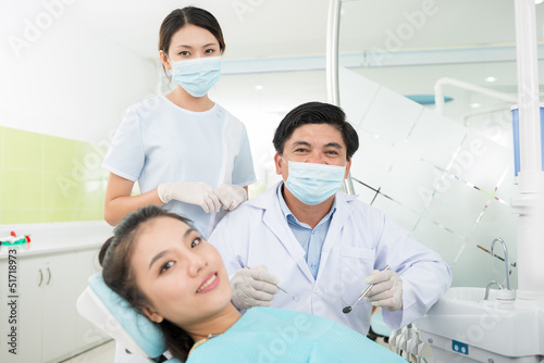 Visiting a dentist