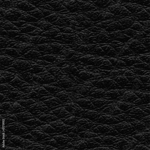 Fotobehang Kunstmatig Black leather seamless texture