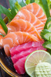 Raw seafood sashimi set