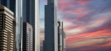 Modern skyscrapers, Sheikh zayed road, Dubai, UAE
