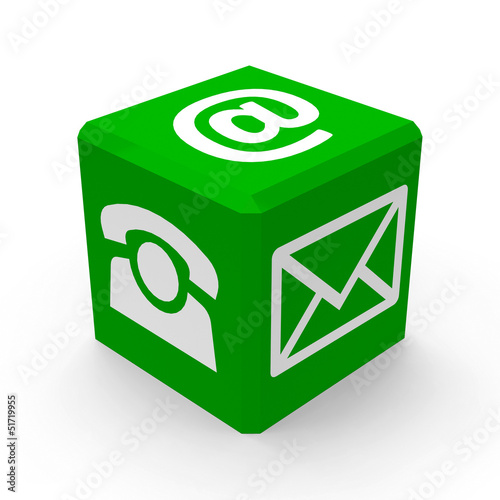 Green contact button