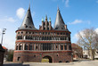 Famous Holstein Gate of Lubeck, Germany