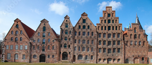Famous salt warehouses in Lubeck, Germany.