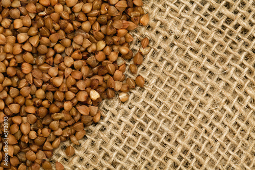 buckwheat on burlap