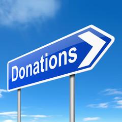 Donations concept.