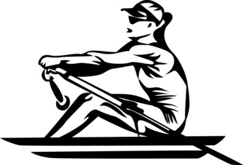 rowing woman
