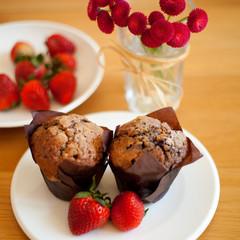 muffin truskawka babeczka