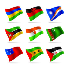 Set of world flags 13