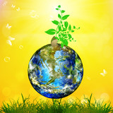 Earth day.Season nature.Safety climate Earth