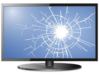 TV Display Risse