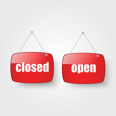 Open and Closed shop sign