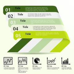 Five section infographic design template