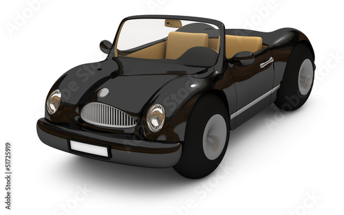3d-rendering of a black car