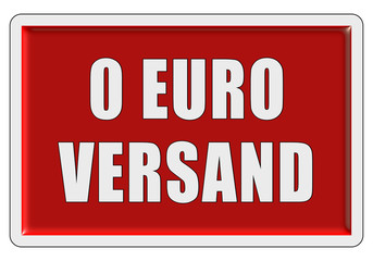 Glassy Button rot eckig 0 EURO VERSAND