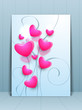 Greeting card or gift card for Happy Mothers Day with pink heart