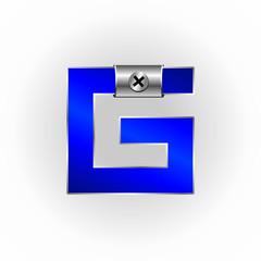 Blue Metallic Fonts