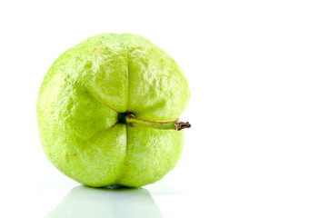 fresh guava on white background