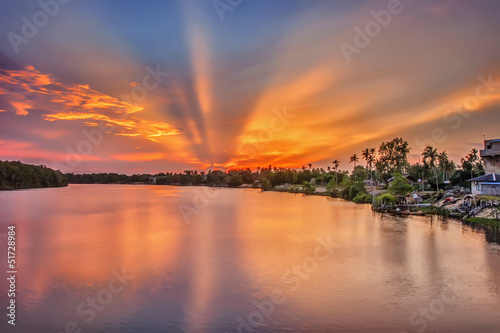 Sunset Burst from Nenasi Pahang Bridge - 51728984