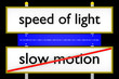 speed of light vs slow motion_Internetgeschwindigkeit - 3D