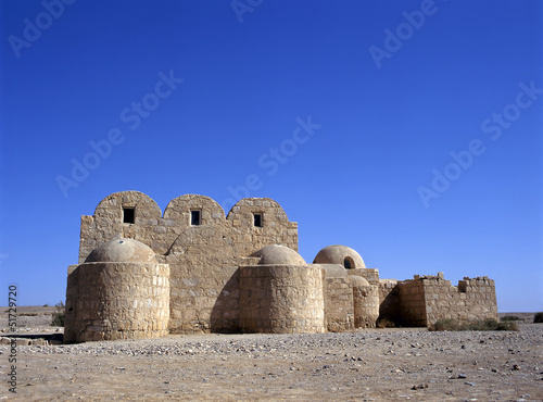 Qasr Amra desert castle. Jordan