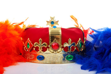 Crown and colroful feathers