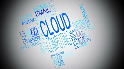 Cloud computing buzzwords montage