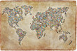 Carte du monde photos, texture vintage