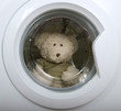 fluffy toy in the washing machine
