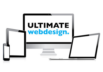 Ultimate web design in electronic devices vector EPS10
