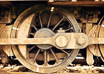 ruota di treno vintage