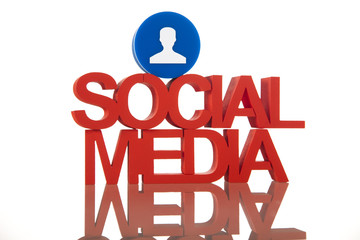 Internet concept with social media
