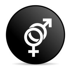 sex black circle web glossy icon