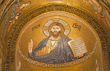 Palermo - Mosaic of Jesus Christ from Cappella Palatina