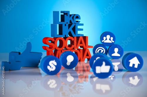 Social media, background
