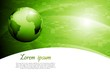 Green colourful tech vector background