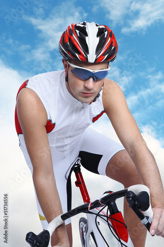 cyclist with bike