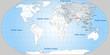 Landkarte von Asien und der Welt