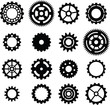 set: black cogwheel - 51736985