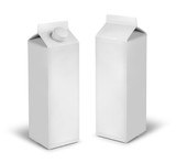 Blank milk or juice carton cans