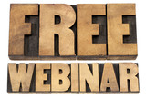 free webinar in wood type