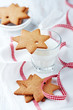 Gingerbread stars and a glass of milk