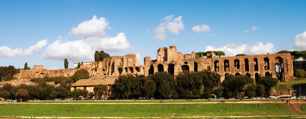 Circus Maximus: ancient Roman stadium, the Palatine hill - Circo