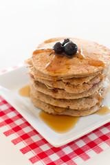 Cinnamon Pancakes - 45 degree POV