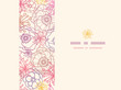 Vector subtle field flowers elegant horizontal seamless pattern