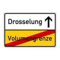 ortsschild volumengrenze drosselung I