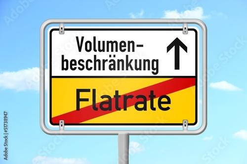 ortsschild v3 himmel flatrate volumenbeschraenkung I
